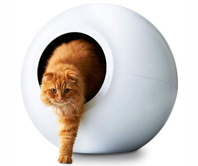 万丸くて真っ白な猫用自動トイレ